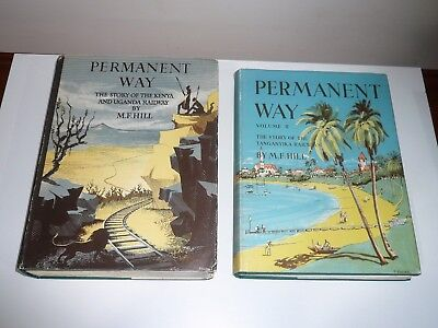 Rare 2 Vols Permanent Way The Story Of The Kenya & Uganda, Tanganyika Railways