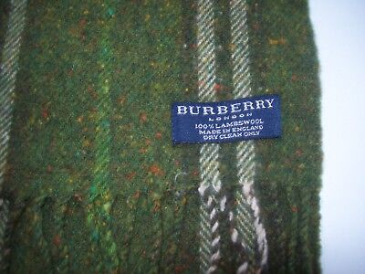 Burberry Authentic Made In England Scarf 100%lambswool As New