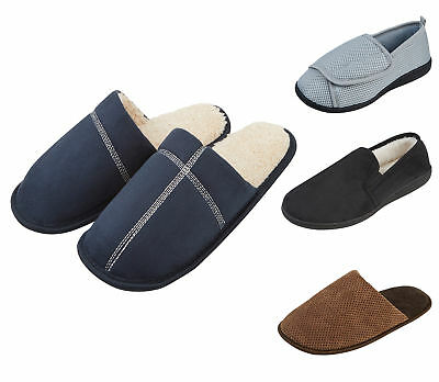 Mens Comfort Luxury Slippers Hard Sole Gents Slipper Various Designs