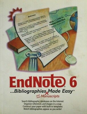 Endnote 6 .Bibliographies Made Easy, Thomson, Very Good Book