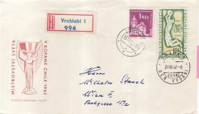 CSSR Tschechoslowakei Nr. 1350  FDC Fussball WM in Chile