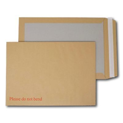 "125 A4/C4 PIP Board Backed Envelopes Peel & Seal ""Please Do Not Bend"" 352 x 249"