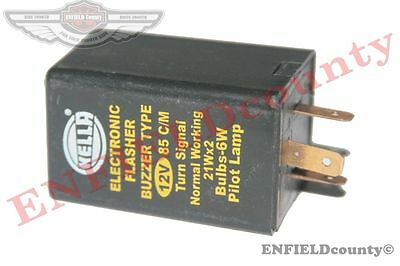 Hella Electronic Flasher Buzzer Type 12V Turn Signal Unit Tractor Jeep @cad