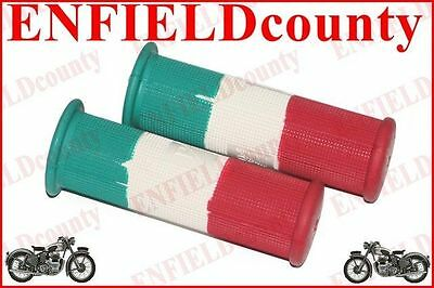 VESPA SCOOTER PAIR RUBBER ITALIAN FLAG GRIP SET 22mm VBB SUPER SPRINT RALLY @AUS