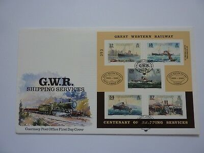 Guernsey GWR Shipping Services Minisheet 1989 FDC