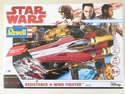 Revell 06759, Star Wars Resistance A-Wing Fighter, Red, Build & Play, Bausatz