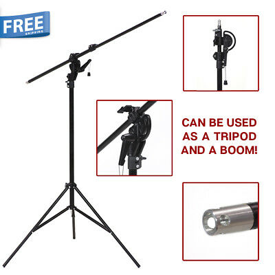 "Photography Continuous Lighting 110"" 2 Way Rotatable Photo Studio Boom Stand"