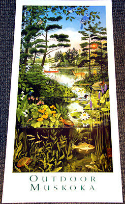 OUTDOOR MUSKOKA Ontario Canada Cottage Country Nature Art POSTER Print