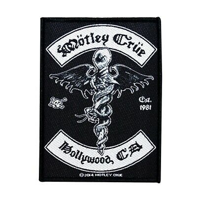 Motley Crue Hollywood CA Band Logos Metal Music Woven Sew On Applique Patch