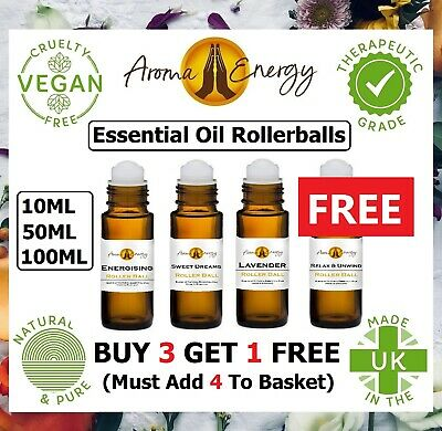 Essential Oil Roller Ball Pulse Point With Pure Essential Oils - 10ml 50ml 100ml