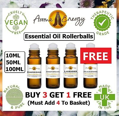 Pure Essential Oil Roller Ball Rollerball Pulse Point Roll On Aromatherapy Oils