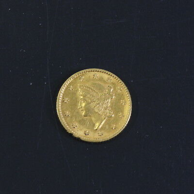 1853 $1 Gold Piece US Coin Liberty Gold Dollar Type 1 USA