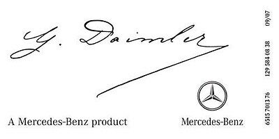 Mercedes Benz Signature Windshield Decal Sticker  $7.50  Free Worldwide Shipping