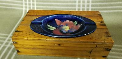 Antique MOORCROFT Cobalt IRIS Oval Ashtray. Beautiful!