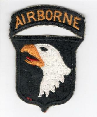 WW 2 US Army 101st Airborne Division Patch & Attached Tab Inv# V711