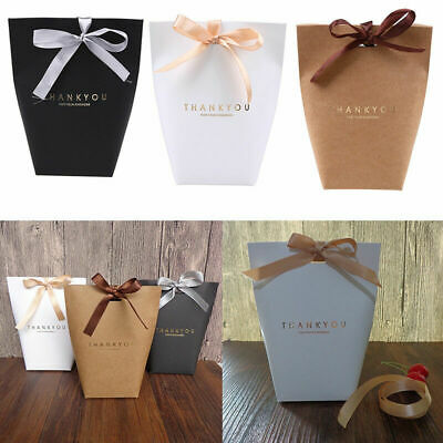 THANK YOU Gift Box Paper Presents Bag Candy Boxes Thankful Theme Party Wedding