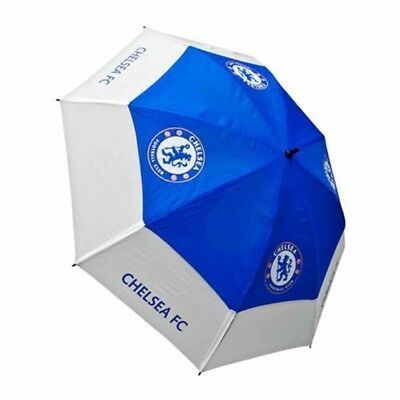 Chelsea Football Club Blue & White Double Canopy Golf Umbrella Free UK P&P