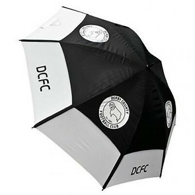Derby County Football Club Blue & White Double Canopy Golf Umbrella Free UK P&P