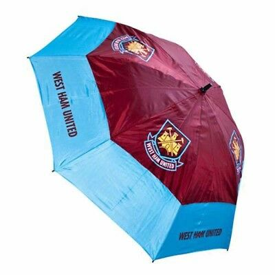 West Ham United Football Club Double Canopy Golf Umbrella Free UK P&P