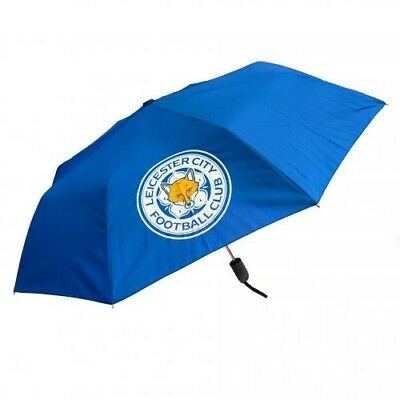 Leicester City Football Club Crest Compact Automatic Golf Umbrella Free UK P&P