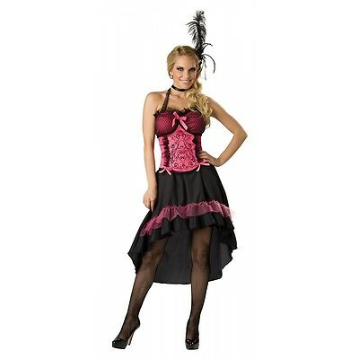 Saloon Girl Costume Adult Can Can Dancer Halloween Fancy Dress