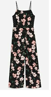7bbcf92064d TOPSHOP FLORAL SPOTTED BowBack Jumpsuit Size 10 NEW TAGS. - £19.88 ...