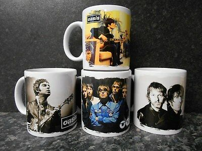 4 x OASIS MUGS limited  RARE BRAND NEW- BOXED Liam noel Gallagher