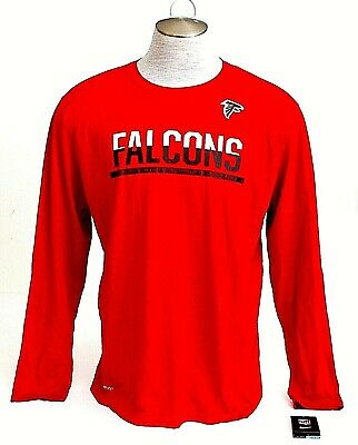 NIKE DRI FIT NFL Atlanta Falcons Long Sleeve Training Shirt Men s ... a0a3c8b3d428