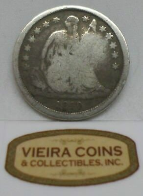 1840 Liberty Seated 10 Cents, Variety 2 - #B356