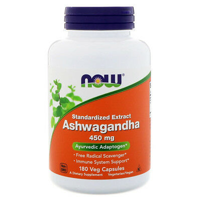 NOW FOODS Ashwagandha 450 mg - 180 Capsule - estratto