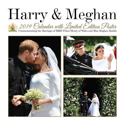 Royal Wedding Offiziell Souvenir 2019 Kalender Harry Meghan + gratis limit.