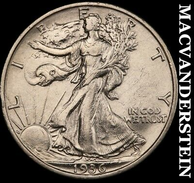 1936-S Walking Liberty Half Dollar - Semi-Key!!  High Grade!!  Lustrous!!  #a367