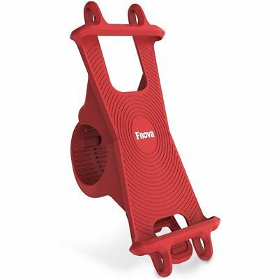 Bike Phone Mount Fit 4.5-6'' Screen Silicone Bicycle Cellphone Handle Bar Holder