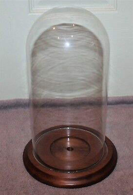 "Vintage Glass Dome 11"" Display For Doll/clock"