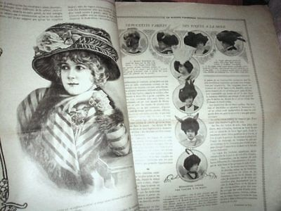 Orig 1909 French Millinery LA MODISTE PARISIENNE Paris Hats Magazine w Photos
