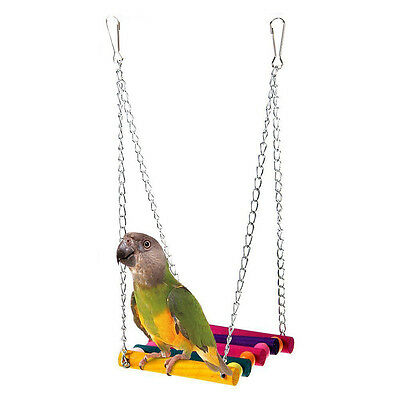 Bird Cage Swing Hammock Hanging Toy Pet Supplies Accessories Parrot Parakeet YA9