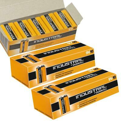 30X Duracell Industrial 9V PP3 Block Alkaline Batteries MN1604 Replaces Procell