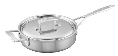 Demeyere Industry 5-Ply 3-qt Stainless Steel Cooking Saute Pan 48424A-48524 NEW