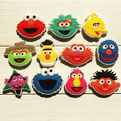 22pcs Lot Sesame Street PVC Shoes Charms fit for Croc & Jibbitz Wristbands Gift