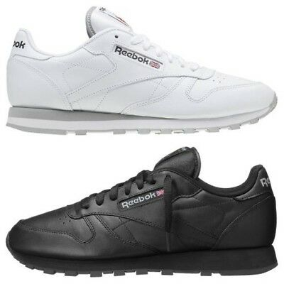 Reebok Men s Classic Leather Trainers White Black 2214 2267 Sneakers Shoes  Retro 1a914204a