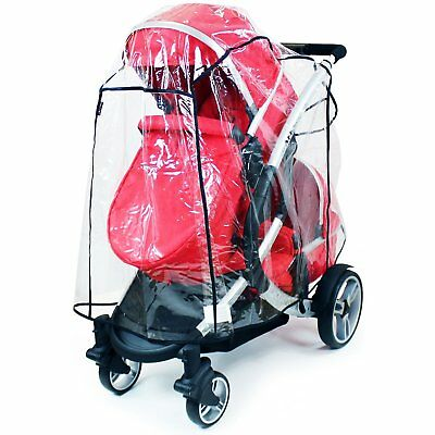 Universal Tandem Rain Cover To Fit Most Tandems, iCandy, Egg, Cosatto, Bugaboo