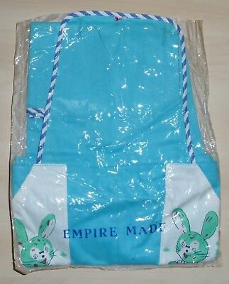 VINTAGE 1970's UNWORN KIDS SILVER CREST TURQUOISE RABBIT DUNGAREES AGE 12 MONTHS