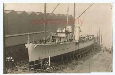 HMS Malcolm destroyer Birkenhead launching real photograph 1919