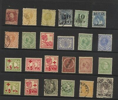 Netherlands   Colonies  nice lot of mint and used  stamps        MS0429