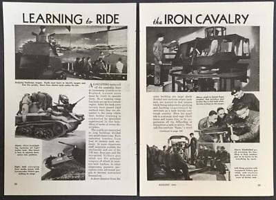 1941 British Tank pictorial *Learning to Ride the Iron Cavalry* Vickers RYPA