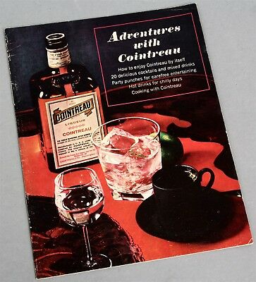 1950's ADVENTURES WITH COINTREAU Liqueur Cocktails & Drinks RECIPES Booklet