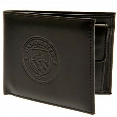 Manchester City Football Club Official Leather Wallet Rfid Protection Team