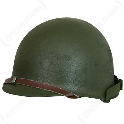 M1 Helmet With Liner - Refurbished Surplus US WW2 Military Green Steel American