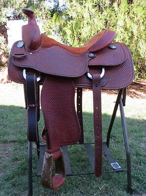 "Handmade JR Henry JR Cowboy Saddle 15 ½"" with ROY ROBINSON Hardware"