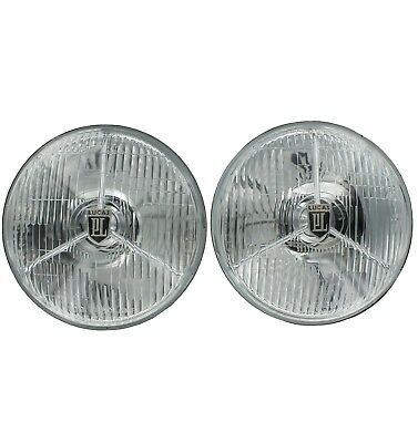 Lucas PL700 7'' Headlights Set Of Two With H3 Halogen Bulbs Improved Design